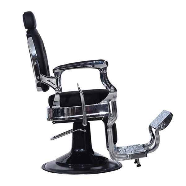 The emperor barber chair in black for salon