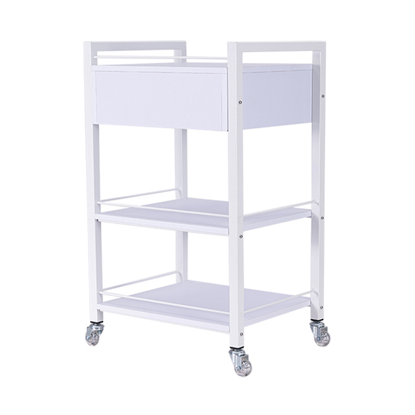 1 drawer salon trolley with 2 shelves