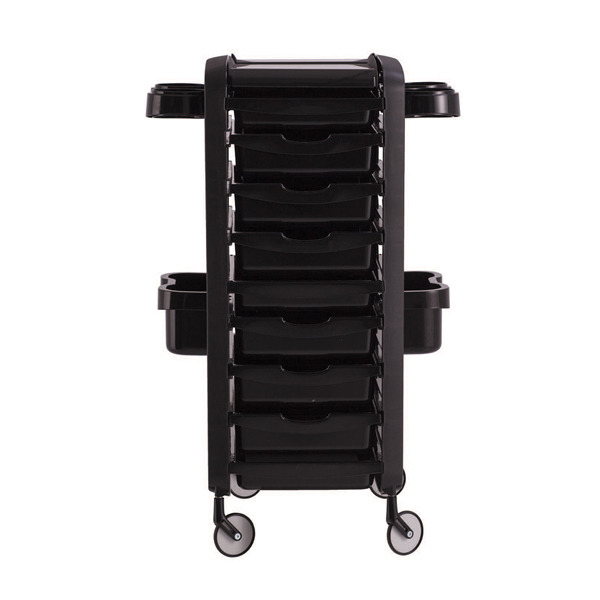 black hairdressing salon trolley made in italy