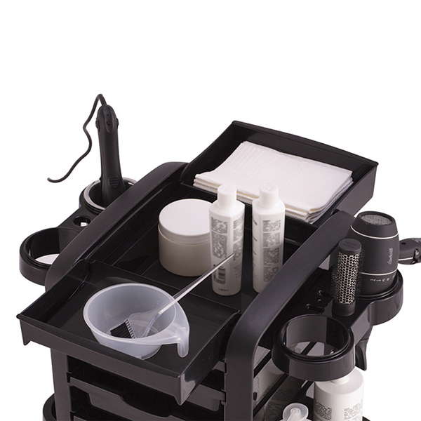 hairdressing trolley has ample storage
