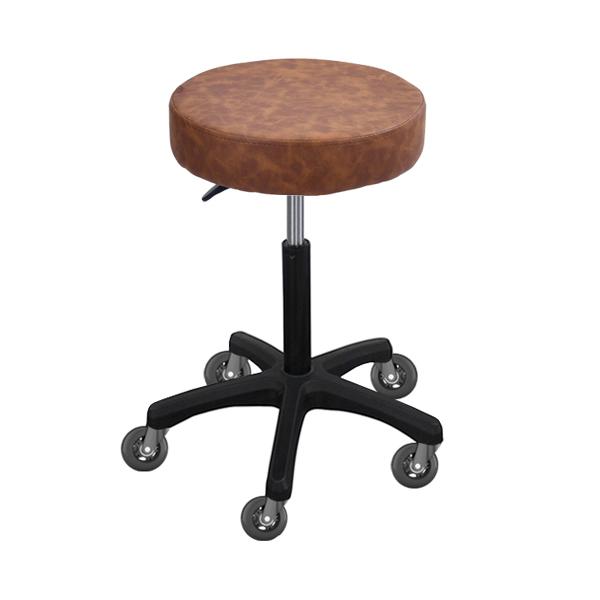salon stool with gaslift height adjustment